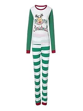 Juego de pijama navideño 2019 con diseño de familia a juego para mujeres y hombres, pijama de rayas para niños: Amazon.es: Hogar