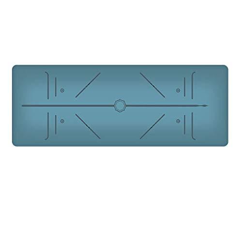 LIZIWEI Naturgummi-Yogamatte Rutschfeste, gepolsterte Fitness-Yogamatte