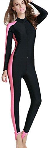 Girls Swimming Costumes (Modest Swimwear - Girls & Ladies Modesty Jumpsuit One Piece Full Length Swimming Costume (Int'l - L, Pink))