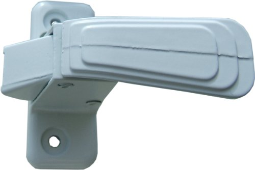 Ideal Security WC Inside Latch For Storm and Screen Doors With Night Latch, Locks from Inside Only White - Inside Latch