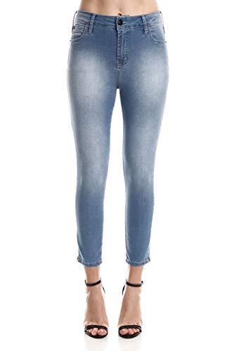 Jeans super high cigarrete, Coca-Cola Jeans, Feminino, Azul, 36