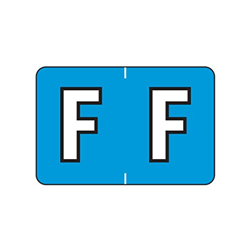 (AMZfiling Alphabetic Color Coded Labels- Letter F, Blue, Barkley ABKM and Sycom Compatible (Polylaminated, 500/Roll))