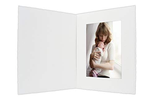 Golden State Art, Cardboard Photo Folder for a 4x6 Photo (Pack of 50) PF054 White Color ()