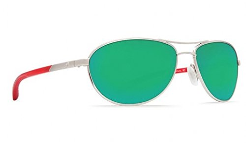 Costa Del Mar KC Sunglass,Palladium Crystal Red /Green Mirror - Kc Costa Sunglasses