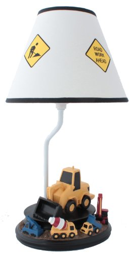 (Construction Table Lamp with Matching Nightlight - Fantastic Hand Painted Details)