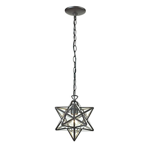 (Sterling Star 1-Light Glass Pendant Lamp )