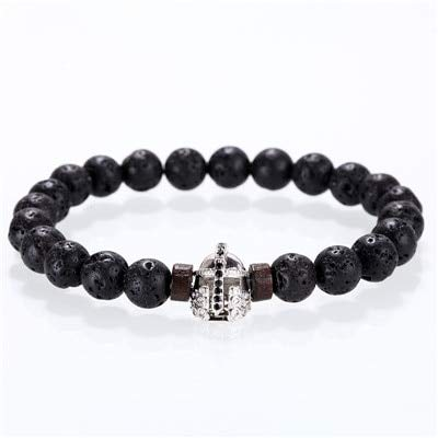Amazon.com: BATOP Stone Bracelet/Men/for Women/Natural/Lava ...