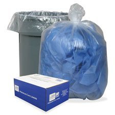 Classic Clear 385822C Clear Low-Density Can Liners, 55-60gal, .9 Mil, 38 x 58, Clear, 100/Carton ()
