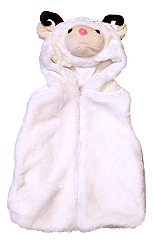 Fashion Vest with Animal Hoodie for Kids - Halloween Dress Up Costume - Boy and Girl Pretend Play (Small, Ram) -