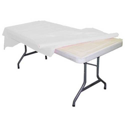 White plastic table roll -