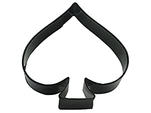 """R&M Spade 3.75"""" Cookie Cutter Black With Brightly Colored, Durable, Baked-on Polyresin Finish"""