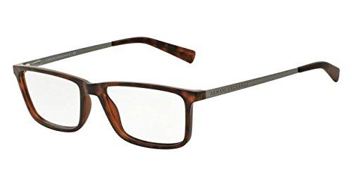 Armani Exchange AX3027 Eyeglass Frames 8029-55 - Matte Tortoise AX3027-8029-55