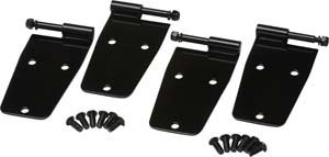 Kentrol 50474 Hardtop Door Hinge Set With Out Mirror Holes (4 pieces) for 1976-1993 Jeep CJ and YJ ()