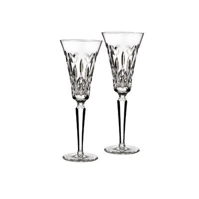 Waterford I Love Lismore Toasting Flute Pair by Waterford