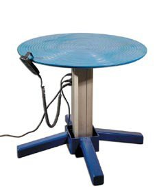 Vestil-TT-30-LA-AC-Turntable-Steel-30-Diameter-with-Powered-Height-Adjust-27-to-42-34-750-lb-Capacity-Blue