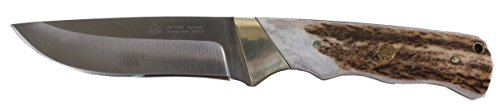 Puma SGB Badlands Stag Fixed Blade Hunting Knife with Leather Sheath