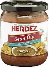 (Herdez Bean Dip 15oz Jar (Pack of 3) (Choose Flavor Below) (Black Bean))