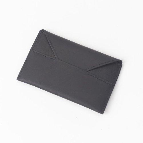 Clava Mens Wallet - Clava Bridle Leather Business Card Envelope - Bridle Black