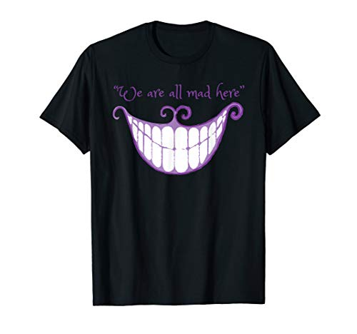 We Are All Mad Here Alice Cat Smile Halloween Costume TShirt ()