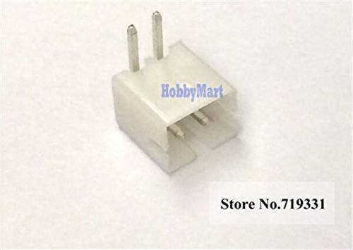Nathan-Ng 100 pcs of XH 2.5mm 2-Pin JST Right-Angle Socket Male Connector