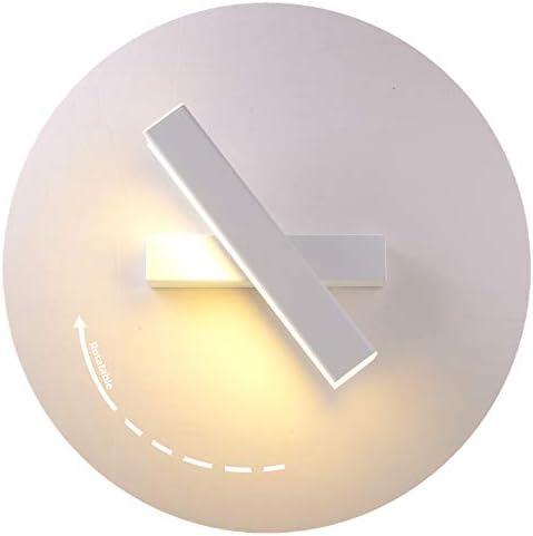 Applique da Parete Interno Moderno Lampada da Parete a LED 12W Bianco Calda Lampada a Muro per Decorazione in Ferro Struttura in Metallo Lampada da Parete a LED Luce (Bianco)
