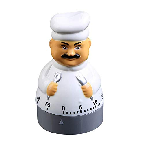 Jayron Kitchen Timer Cooking Timer Count Down Timer Mechanical Timer 60 Minutes Count Down Timer Chef Shaped