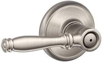 Schlage F40BIR619 Birmingham Privacy Door Lever Set Satin Nickel