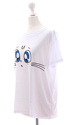 TP-103 Lolita T-Shirt Sailor Moon Artemis weiß Harajuku Japan Trend Fashion Süß Kawaii-Story