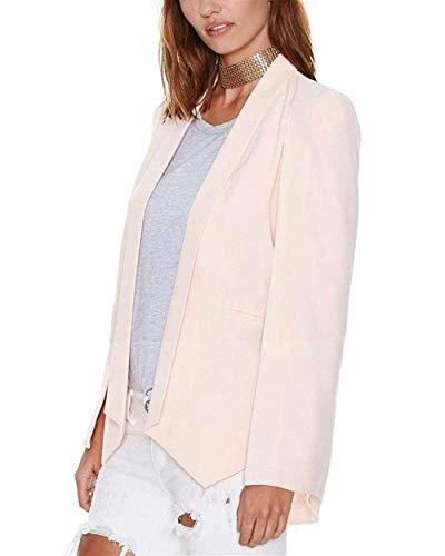 Business Camicia Semplice Eleganti Aperto Giacca A Pink Forcella Primaverile Blazer Party Donna Cappotto Ufficio Tailleur Glamorous Da Autunno Monocromo Casual Manica Moda Classiche Lunga 5vXqt1wcOx