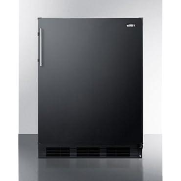 Summit Appliance 24 in. W 5.5 cu. ft. Freezerless Refrigerator in Black (FF63BBI)