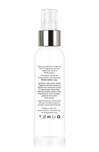 Fresh Cotton Perfume Fine Fragrance Mist by Body Exotics 3.5 Fl Oz 103 Ml ~ the Fresh Scent of Warm Cotton Drying on the Line