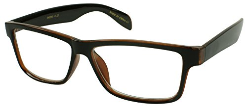 Edge I-Wear Lightweight Rectangular Framed Reader 540593-+2.75-2 (Clear Brown) (Light Two Bn)