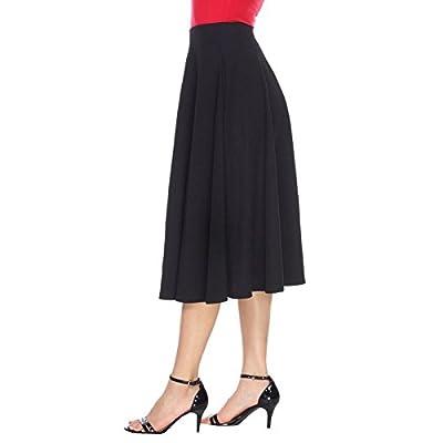 White Mark Women's Tasmin Flare Midi Skirt