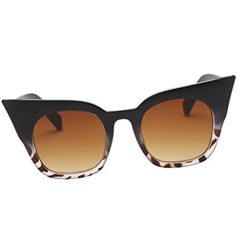 de Sol té UV400 Deporte marco Vintaje Viaje de Unisex Ojos de de Lente Conducción té Homyl Estilo Gato Hombre marco Pesca negro leopardo Protección para Regalo Mujer de Gafa leopardo negro Lente EfqzcwWZ