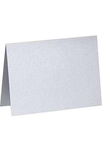 A7 Folded Notecards (5 1/8 x 7) -Silver  - Metallic Folded Shopping Results