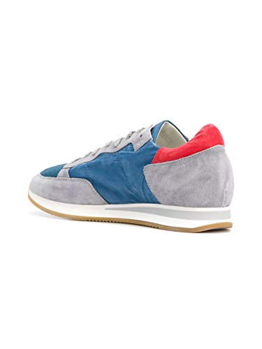 Philippe Model Mænd Trlurx06 Blå Ruskind Sneakers F1WprEqjzt