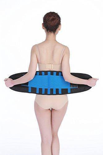 Waist Trimmer, Belt Adjustable Weight Loss Waist Trainer Lower Back Brace Pain Relief Lumbar Support Black For Men Women (Black Sex Machine)
