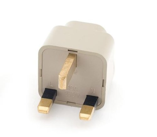 NEON Travel Adapter Universal UK 3-pin plug (Uk Travel Inverter)