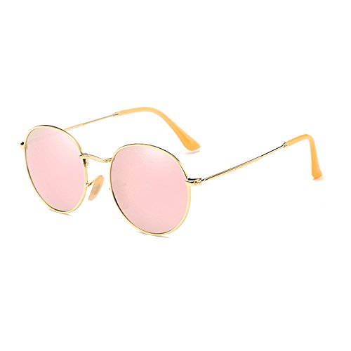 Round Metal Frame Sunglasses - AIMADE Hexagonal Polarized Sunglasses Round Circle Lens Metal Frame for Men and Women Unisex Sunglasses UV400 Protection