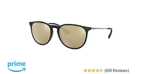 Amazon.com  Ray-Ban Womens Erika Sunglasses (RB4171) Black Brown  Plastic 470240f0da2