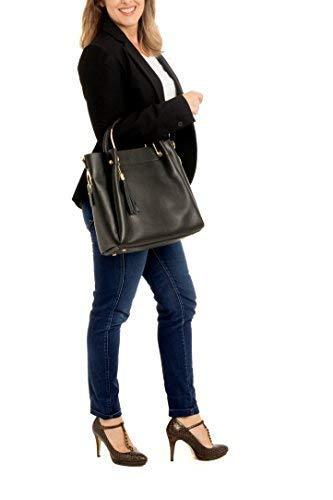 Llevar modelo Baroni O Elegantemente Para Hombro De Massima Negro Cross Asas Con Lujosas Bag Mujer Body Mano Allegra Piel Tote Bolso Como 7fddwq