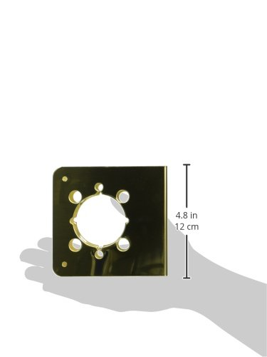 Don-Jo 4550-CW 22 Gauge Stainless Steel Mortise Lock Wrap-Around Plate 1-3//4 Door Size For Mounting Don-Jo Hospital Push and Pull Latches 5 Backset 6-1//2 Width x 9 Height Satin Stainless Steel Finish