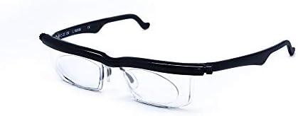 老眼鏡、調節可能な老眼鏡近視眼鏡4Dを+ 5D視度拡大鏡変数強さ Collocation (Eye Prescription : Variable Focus, Rahmen-Farbe : Black)