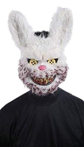 Mens Scary White Rabbit Rabbit Halloween Horror Animal Fancy Dress Costume Outfit Mask]()