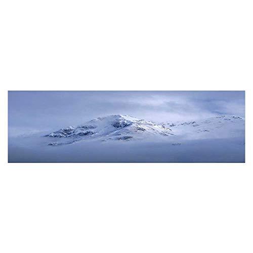 Leighhome Background Poster The Misty Mountains Snow gleams White. PVC Aquarium Decorative Paper L35.4 x -