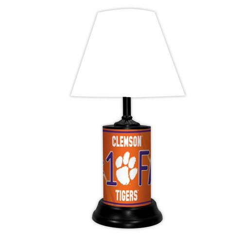 Clemson Tigers NCAA #1 Fan Team Logo License Plate made Desk Lamp with (Tigers College Desk Lamp)