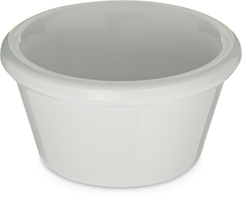 Carlisle 085202 Melamine Smooth Ramekin, 2 oz. Capacity, White (Case of 72)