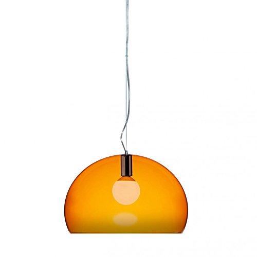 ✓ Kartell Fly Fl/y Small - Lampadario, Arancione