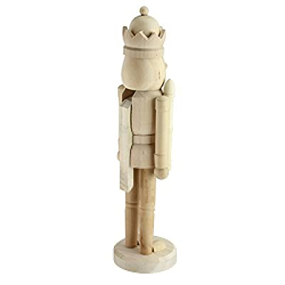 "14.5"" Traditional Decorative Wooden Unpainted DIY Nutcracker"