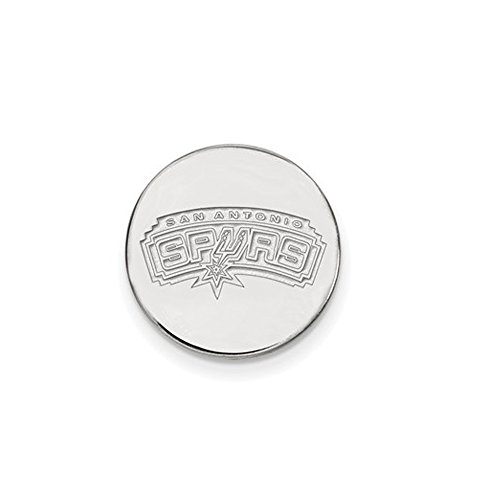 NBA San Antonio Spurs Lapel Pin in 14K White Gold by LogoArt